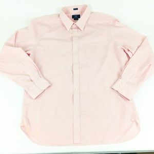 J.Crew Men's Pink Wrinkle Free Check Shirt AS IS
